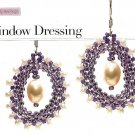 Y522 Bead PATTERN ONLY Beaded Window Dressing Earring Pattern
