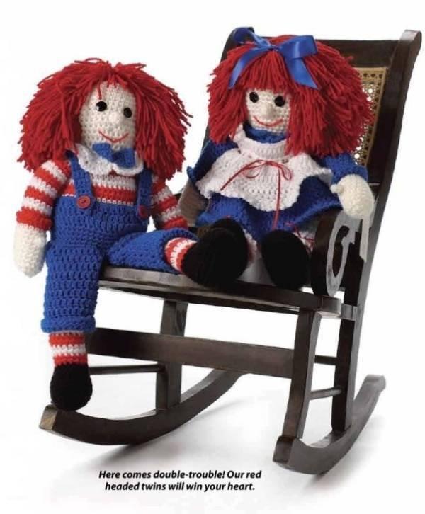 X570 Crochet PATTERN ONLY Betsy & Billy Raggedy Doll Pattern