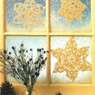 X192 Crochet PATTERN ONLY 3 Snowflake Christmas Ornament Patterns