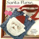 X050 Crochet PATTERN ONLY Santa Clause Face Purse Tote Bag Pattern Christmas