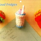 Y742 Crochet PATTERN ONLY Fast Food Fridgies Shake Fries Hamburger Patterns
