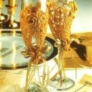 X418 Crochet PATTERN ONLY Wedding Goblet, Album & Bride's Headdress Pattern