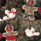 Y380 Crochet PATTERN ONLY Gingerbread Man Woman & Dove Swag Christmas Pattern