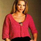Y774 Crochet PATTERN ONLY Ladies Bright & Easy Bolero Sweater Pattern