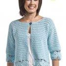 Y022 Crochet PATTERN ONLY Short Spring Cardigan, Shoulder Topper & Easy Belt