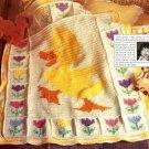 Y765 Crochet PATTERN ONLY Little Quacker Duck Afghan Baby Blanket Pattern