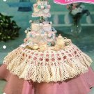 Y426 Crochet PATTERN ONLY Miniature Fashion Doll Wedding Cake & Tablecloth