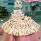 Y426 Crochet PATTERN ONLY Miniature Fashion Doll Wedding Cake & Tablecloth