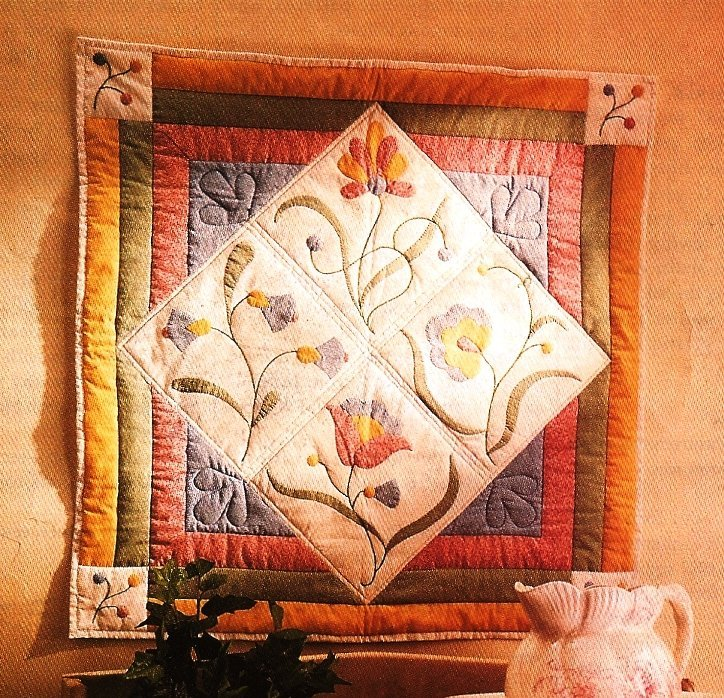 Y981 Quilt PATTERN ONLY Applique Floral Fantasy Wall Quilt Pattern