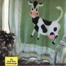Y153 Crochet PATTERN ONLY Bossie the Cow Afghan Blanket