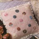X157 Crochet PATTERN ONLY Fanciful Lacy Yo-Yo Flower Pillow Pattern