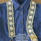 Y828 Crochet PATTERN ONLY Daisy Chatelaine Pattern Holds Needle Pin and Scissors