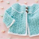Y299 Crochet PATTERN ONLY Candyland Baby Sweater Pattern