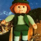 X087 Crochet PATTERN ONLY Lucky Leprechaun St. Patrick's Day Doll Pattern