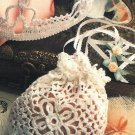 X954 Crochet PATTERN ONLY Bride's Purse & Bridal Crown Headpiece