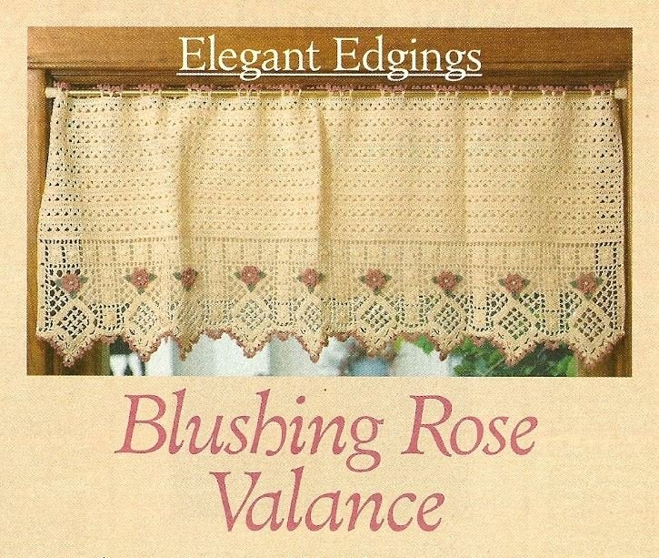Y971 Crochet PATTERN ONLY Vintage Style Blushing Rose Valance Pattern