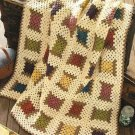 Y014 Crochet PATTERN ONLY Granny's Cool Spool of Thread Afghan Throw