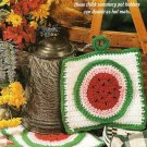 Y607 Crochet PATTERN ONLY Summer Watermelon Pot Holder or Hot Mats Patterns