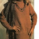 X807 Knit PATTERN ONLY 3 Tunic Pullover Sweaters Size S to XL