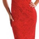 W344 Crochet PATTERN ONLY Ladies Red Hot Valentine Sleeveless Dress Pattern