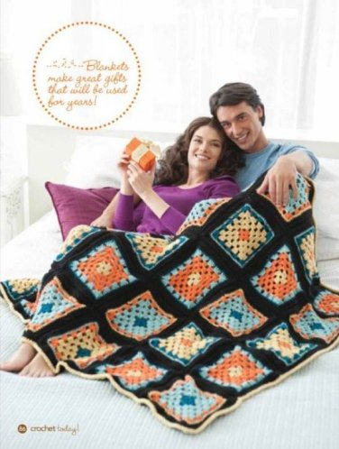 Y305 Crochet PATTERN ONLY Granny Square Afghan Pattern **Easy**