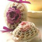 X718 Crochet PATTERN ONLY Rose Filigree Easter Eggs