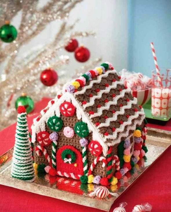 Y291 Crochet PATTERN ONLY Stitchy Gingerbread House Pattern