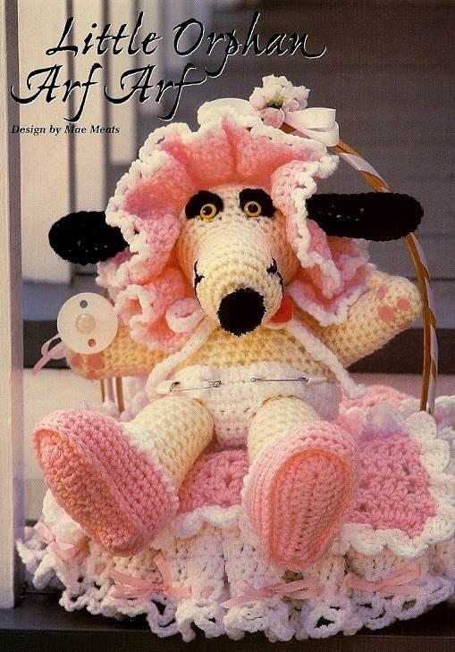 Y731 Crochet PATTERN ONLY Little Orphan Art Arf Toy Doll Dog Pattern