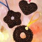 X818 Crochet PATTERN ONLY 3 Night Jewels Ornaments Pattern