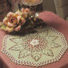 X504 Crochet PATTERN ONLY Irish Mint & Rose Doily Pattern