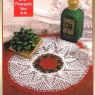 Y044 Crochet PATTERN ONLY Christmas Pineapple Star Doily