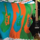 X301 Crochet PATTERN ONLY Rock & Roll Guitar Ripple Afghan Pattern