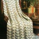 Y531 Crochet PATTERN ONLY Crochet Victorian Tapestry Ripple Afghan Pattern