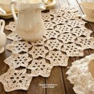 W113 Crochet PATTERN ONLY Snowflake Motif Magic Table Scarf Doily Pattern