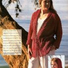 Y613 Crochet PATTERN ONLY Ladies Cover-Up Hoodie Pattern Sized to XL