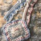 Y016 Crochet PATTERN ONLY Potpourri Mini Pillow Sachet & Love Knot Hanger Cover