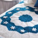 X055 Crochet PATTERN ONLY Hanukkah Round Ripple Afghan Pattern