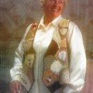 Y587 Crochet PATTERN ONLY Crazy Quilt type Victorian Patchwork Vest Large XL