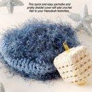 X163 Crochet PATTERN ONLY Hanukkah Twosome Yarmulke & Dreidel Pattern