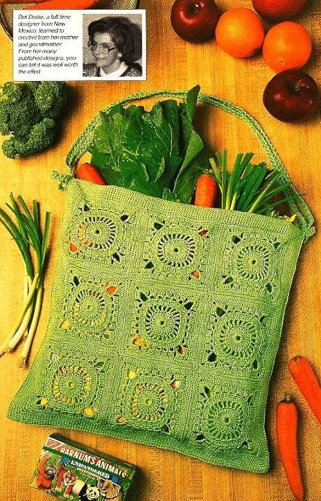 Y365 Crochet PATTERN ONLY Granny Style Shopping Bag Pattern