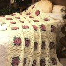 Y195 Crochet PATTERN ONLY Lacy Rose Afghan Throw Pattern