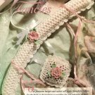 X947 Crochet PATTERN ONLY Feminine Fancies Rose Sachet & Hanger Cover
