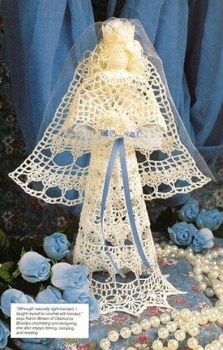 X763 Crochet PATTERN ONLY Bride Angel Doll Wedding or Christmas Ornament