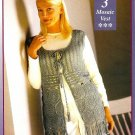 Y665 Crochet PATTERN ONLY Ladies Mosaic Vest Pattern