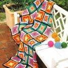 Y403 Crochet PATTERN ONLY Firecracker Afghan Bright & Fun Pattern