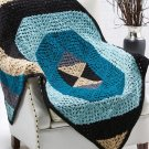 W152 Crochet PATTERN ONLY Quantum Geometric Modern Throw Afghan Pattern