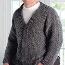 W149 Crochet PATTERN ONLY Men's Mill Creek Cardigan Sweater Pattern
