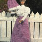 Y041 Crochet PATTERN ONLY Fashion Doll Victorian Dress Majorette Jogging Outfits