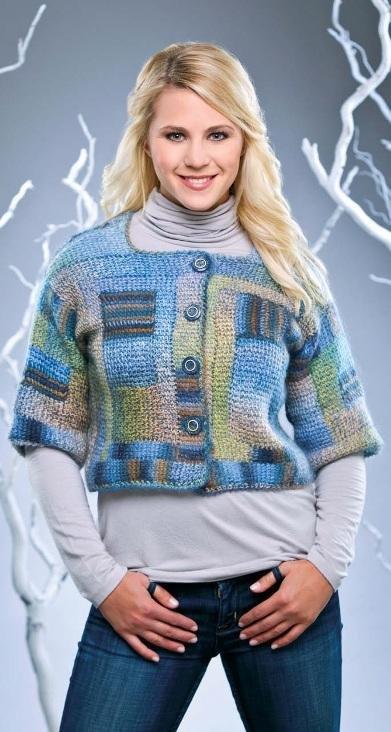 W123 Crochet PATTERN ONLY Building Blocks Cardigan Sweater Pattern