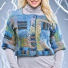 W123 Crochet PATTERN ONLY Building Blocks Cardigan Sweater Pattern